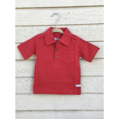 Ruggedbutts Red Pocket Polo - Swank Baby Boutique