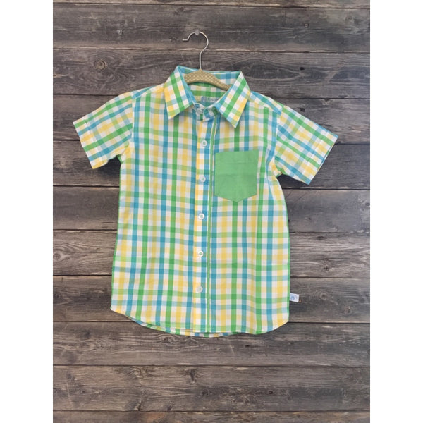 Ruggedbutts Asher Plaid Shirt - New with Tags - Various Sizes - Swank Baby Boutique