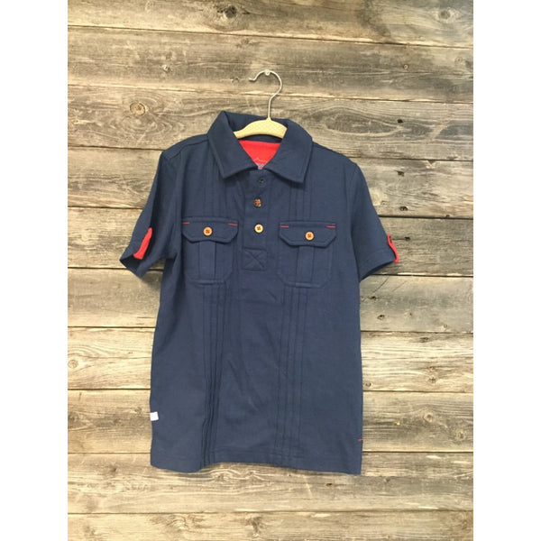 Ruggedbutts Navy Blue Pocket Polo - Various Sizes - Swank Baby Boutique
