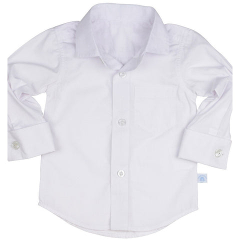 Ruggedbutts White Formal Button Down - Various Sizes - Swank Baby Boutique