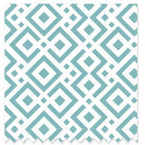 Saranoni Lattice Aqua Organic Cotton Swaddle with Beanie - Swank Baby Boutique