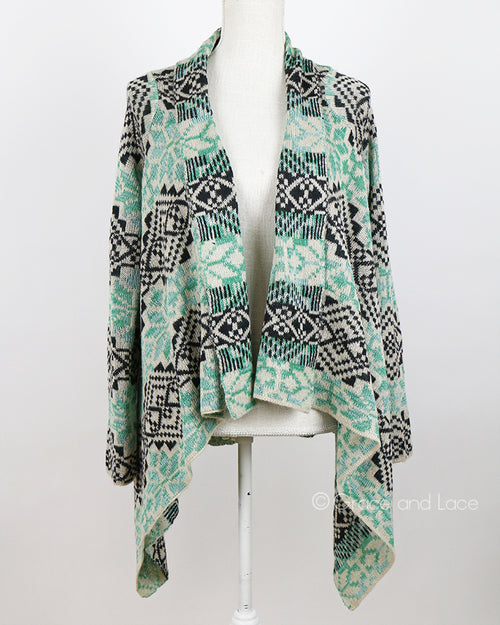 Grace & Lace Aspen Cardigan in Wintergreen- Size Adult s/m-NWT