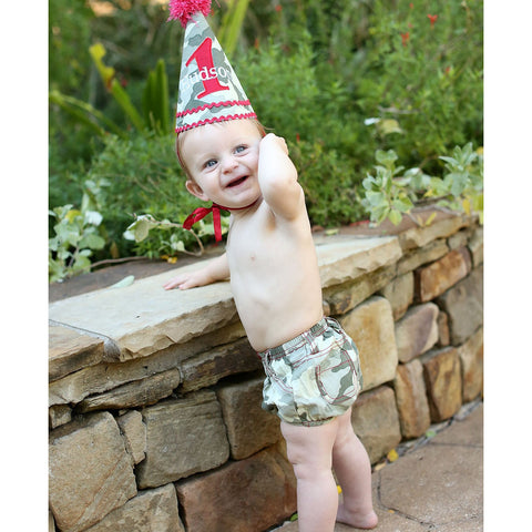 Ruggedbutts Camden Camo Birthday Hat - New with Tags - One Size - Swank Baby Boutique