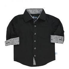 Rugged Butts Black Formal Button Down - Swank Baby Boutique