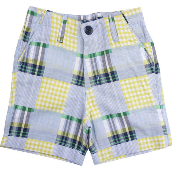 Ruggedbutts Patchwork Madras Plaid Shorts - Swank Baby Boutique