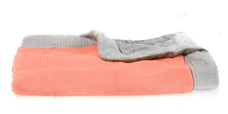 Saranoni Coral/Gray Lush Receiving Blanket