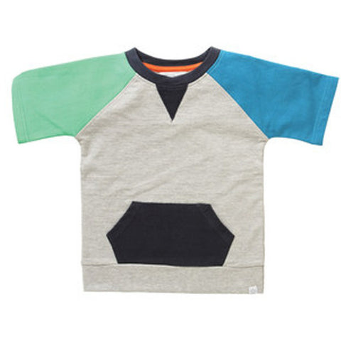 Rockin' Baby Ethan Colour Block Sweatshirt Tee - Swank Baby Boutique