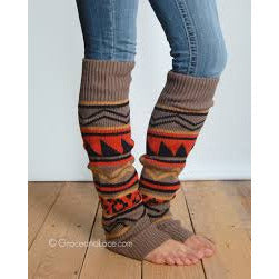 Grace and Lace Ladies Aztec Patterned Leg Warmers - ADULTS - Swank Baby Boutique