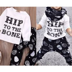 Hip to the Bone 2 Pc Outfit - Swank Baby Boutique