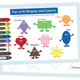 Activity Placemat- Colors and Shapes! - Swank Baby Boutique
