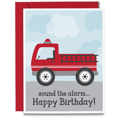Birthday Card- Fire Truck - Swank Baby Boutique
