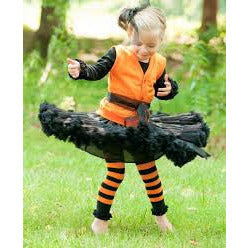 Rufflebutts Halloween Orange and Black Tights