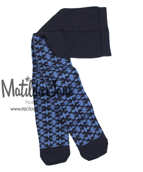 Matilda Jane Inky Blue Tights Size med