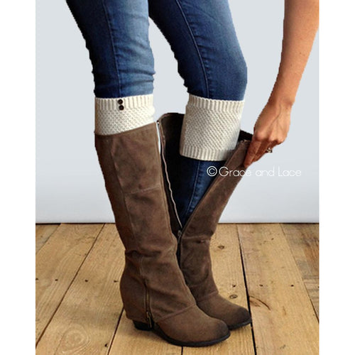 Grace & Lace Pebble Knit Boot Cuffs- Multiple Colors - Swank Baby Boutique