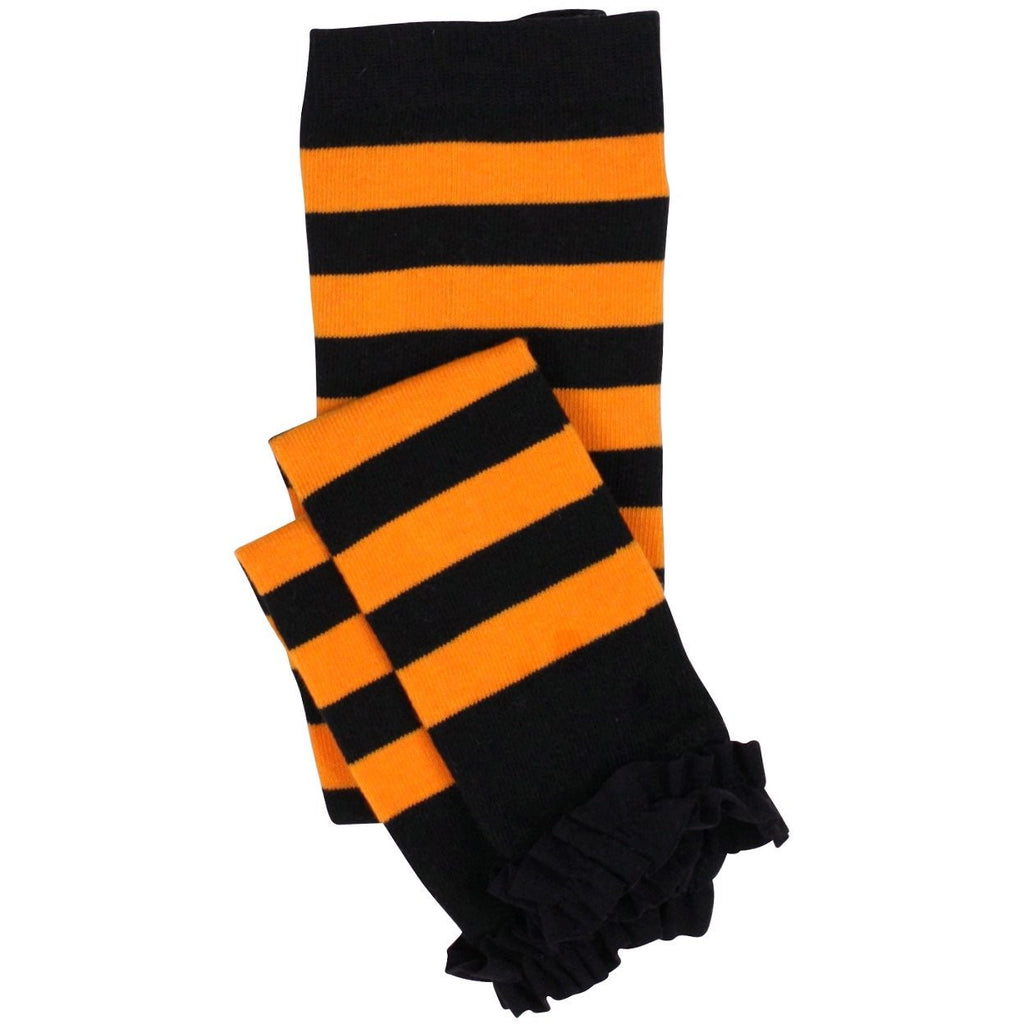 Rufflebutts Halloween Orange and Black Tights - Swank Baby Boutique