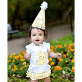 Rufflebutts Yellow Gingham Birthday Hat  - New with Tags - One Size - Swank Baby Boutique