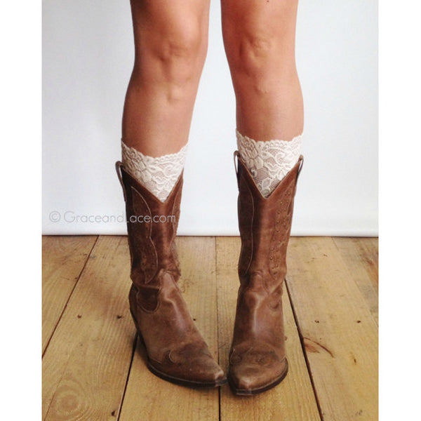 Grace and Lace Stretch Lace Boot Cuff - Multiple Colors - Swank Baby Boutique