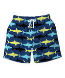 Sunshine Swing Shark Swim Trunks