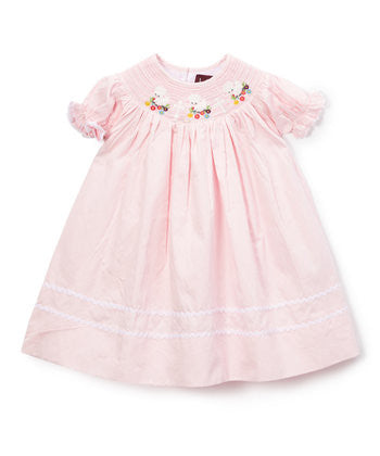 Light Pink Lamb Bishop Dress