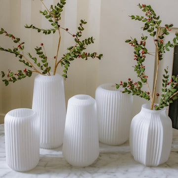 Allure Ribbed Glass Vases