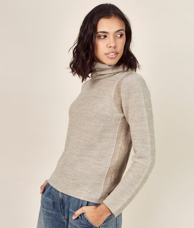 Turtleneck Alpaca Sweater - Sol Alpaca US