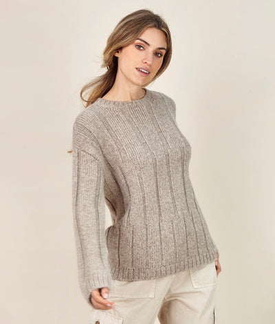 Rib-Knit Sweater - Sol Alpaca US