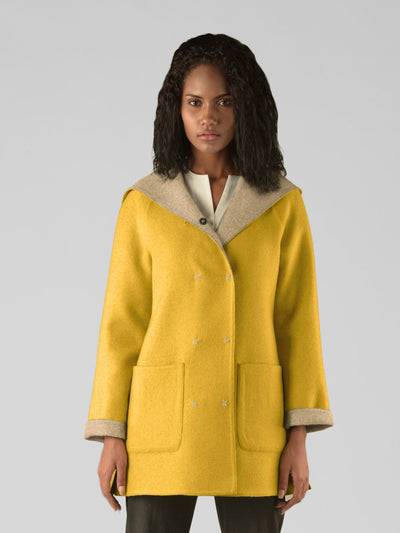 Hooded Reversible Coat - Sol Alpaca US
