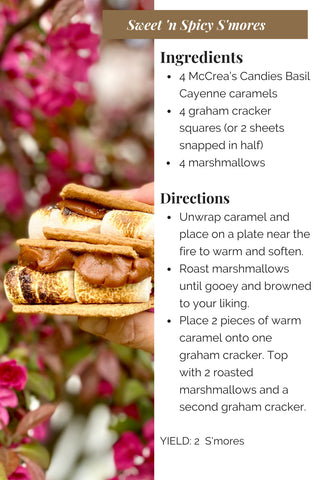 Sweet and Spicy S'Mores Recipe Using Basil Cayenne Caramel