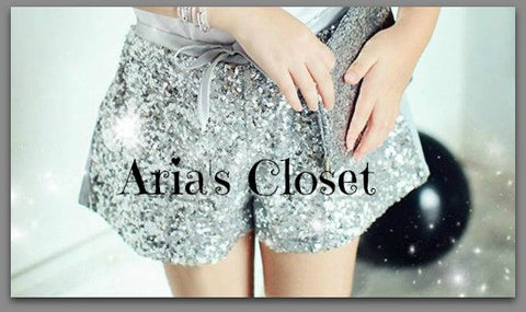 Sequin Shorties (Silver)