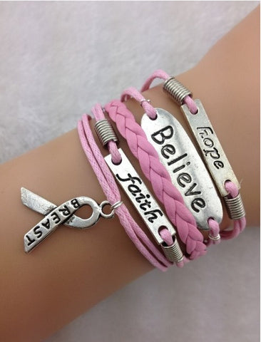Breast Cancer Infinity Bracelet
