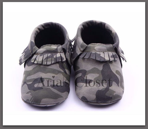 Camo Pre-Walker Shoes (Green)