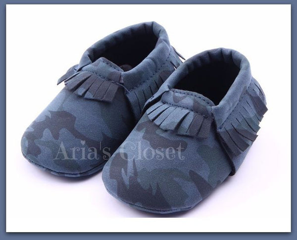 Camo Pre-Walker Shoes (Sea Blue)