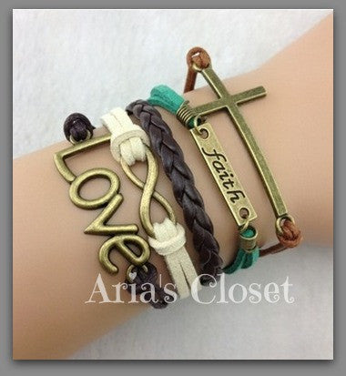 Faith Infinity Bracelet (Green)