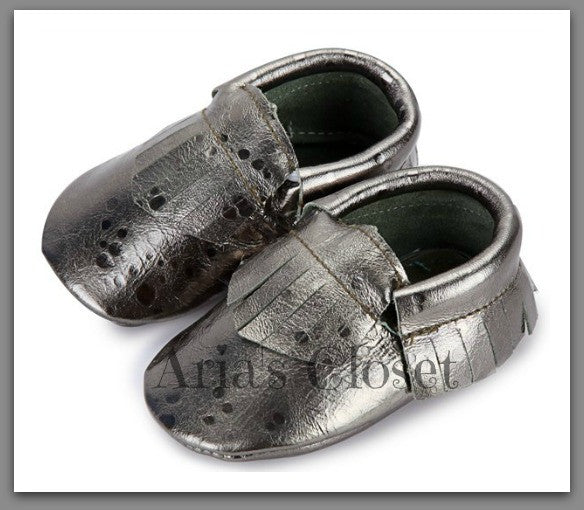 Guilded Slippers (Slate)