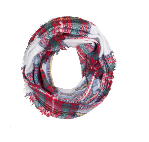 Fall infinity (Classic Ivory & Red Plaid)