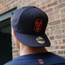 Load image into Gallery viewer, Rugby Unite New York Baseball Hat - Orange Shield Logo, 9Fifty Snapback label details