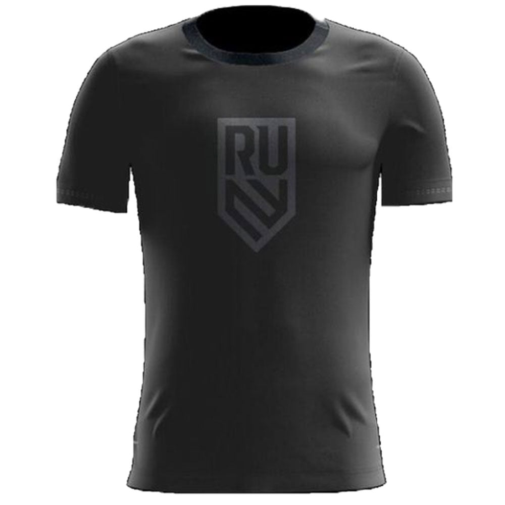 Rugby United Black T-Shirt Legacy Logo