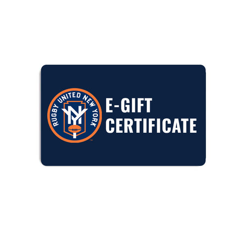 Rugby United e-gift certificate