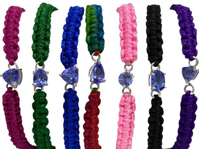 Authentic Tanzanite Trillion Gemstone String/Friendship/Rope Bracelet