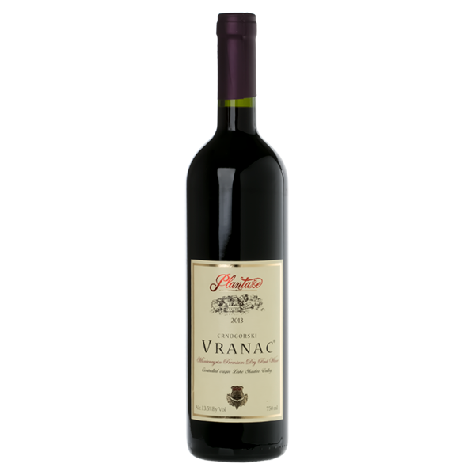 PLANTAZE Vranac Premium Dry Red Wine 6/750ml