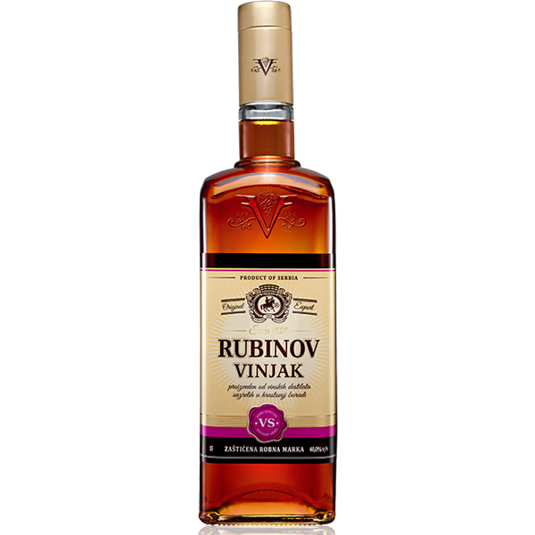 RUBIN Vinjak VS [Grape Brandy] 6/1L
