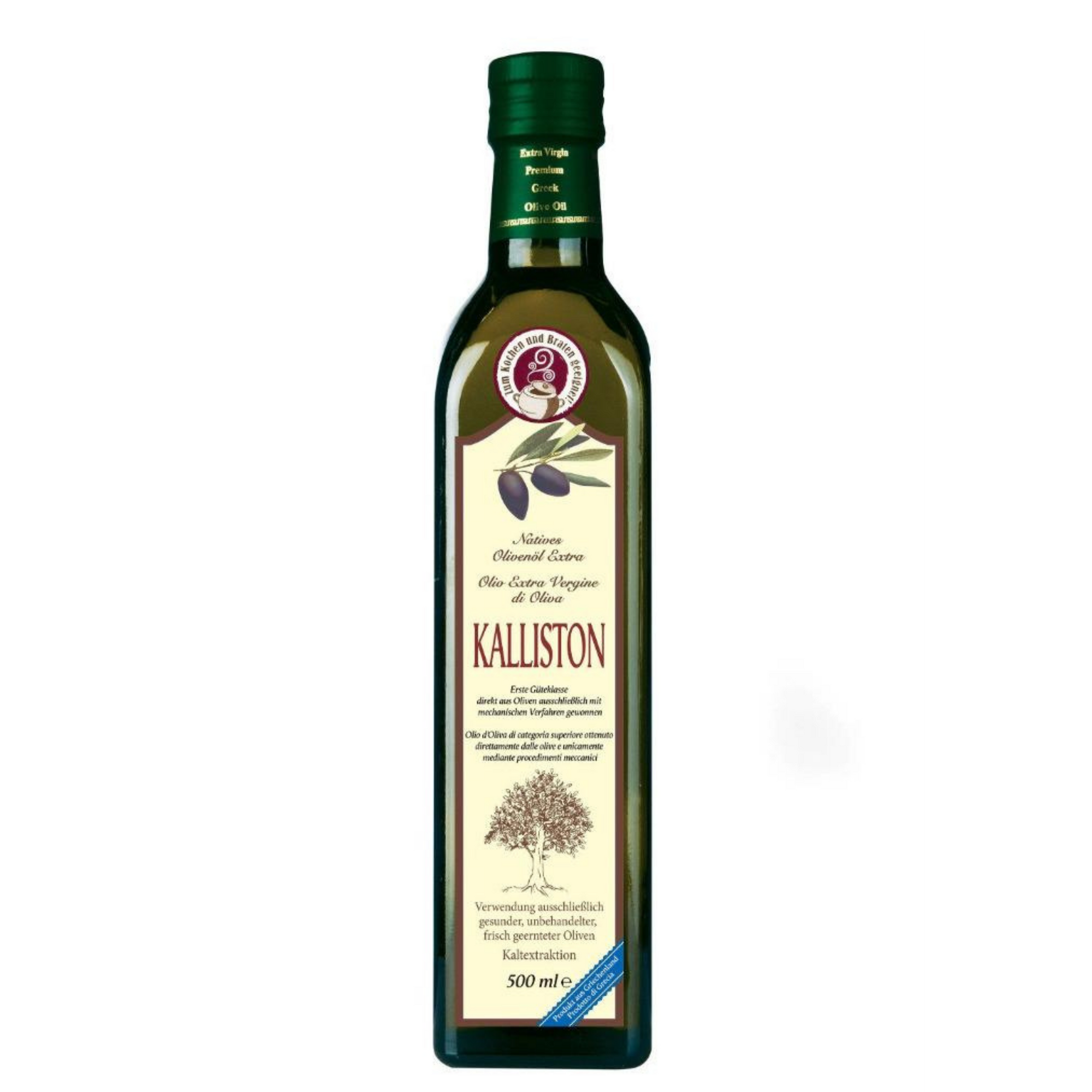 KALLISTON - kaltextrahiertes natives Olivenöl extra in der Flasche