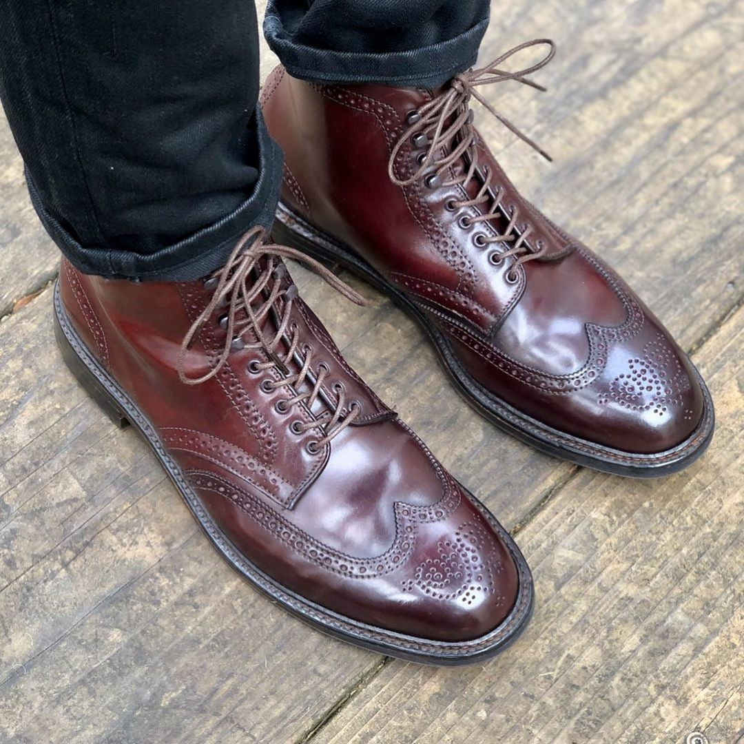Alden GMTO: Wingtip boot in Color 8 Cordovan