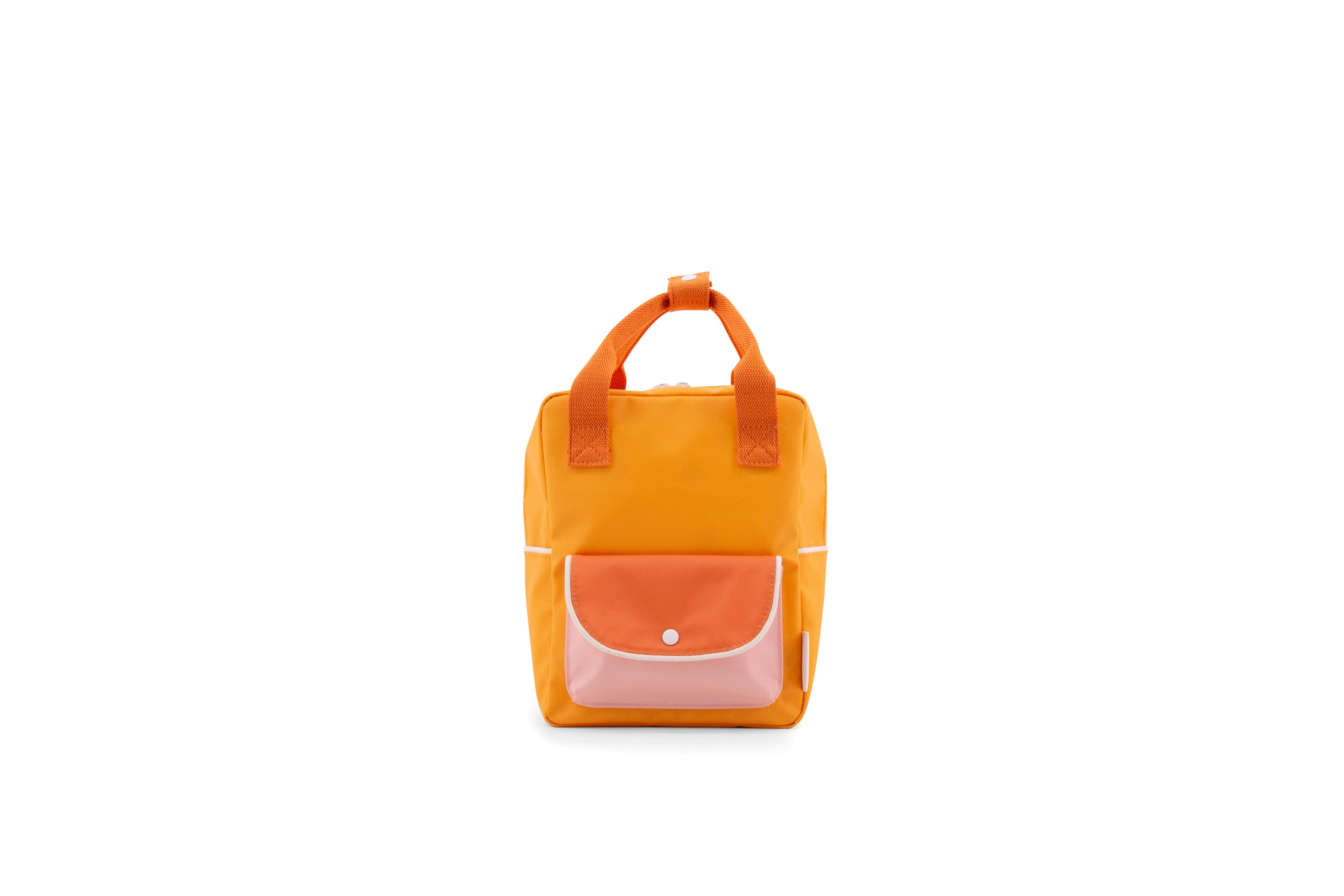 Small backpack  | sunny yellow + carrot orange + candy pink