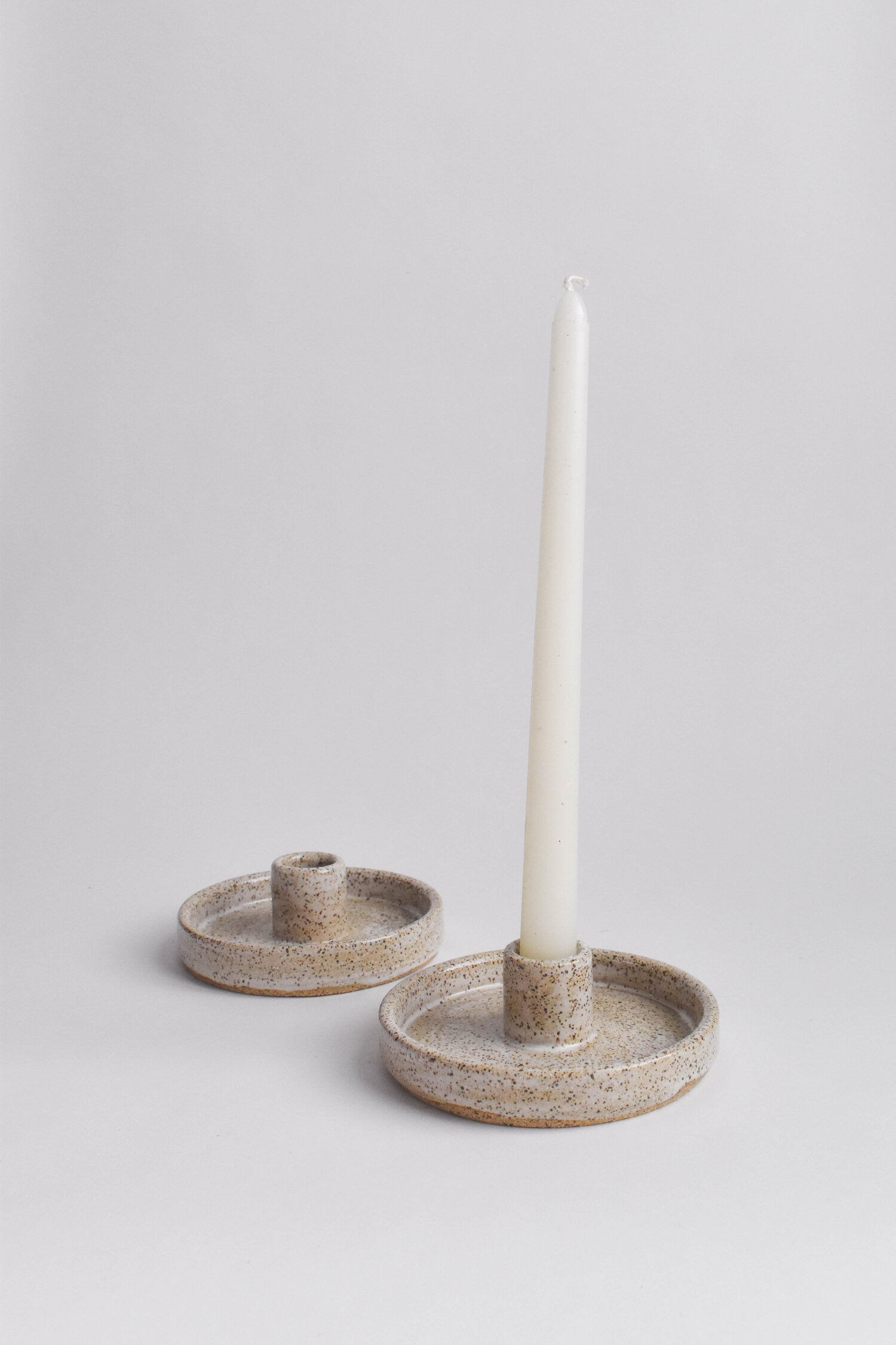Wild Bower Studio - Speckled Candle Holder