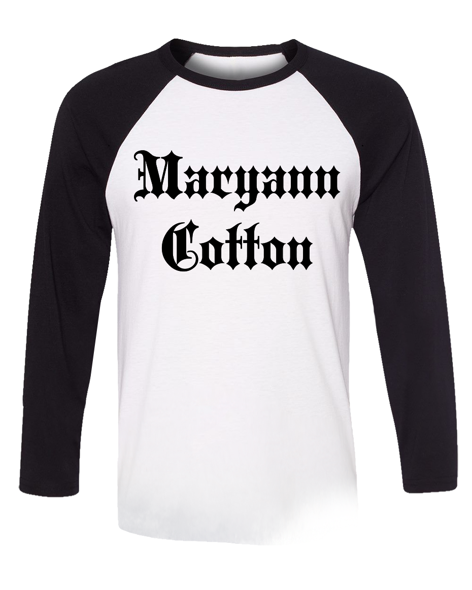Maryann Cotton Raglan Black - Longsleeve
