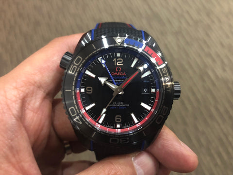 -SOLD- Omega Planet Ocean 600 Deep Black ETNZ
