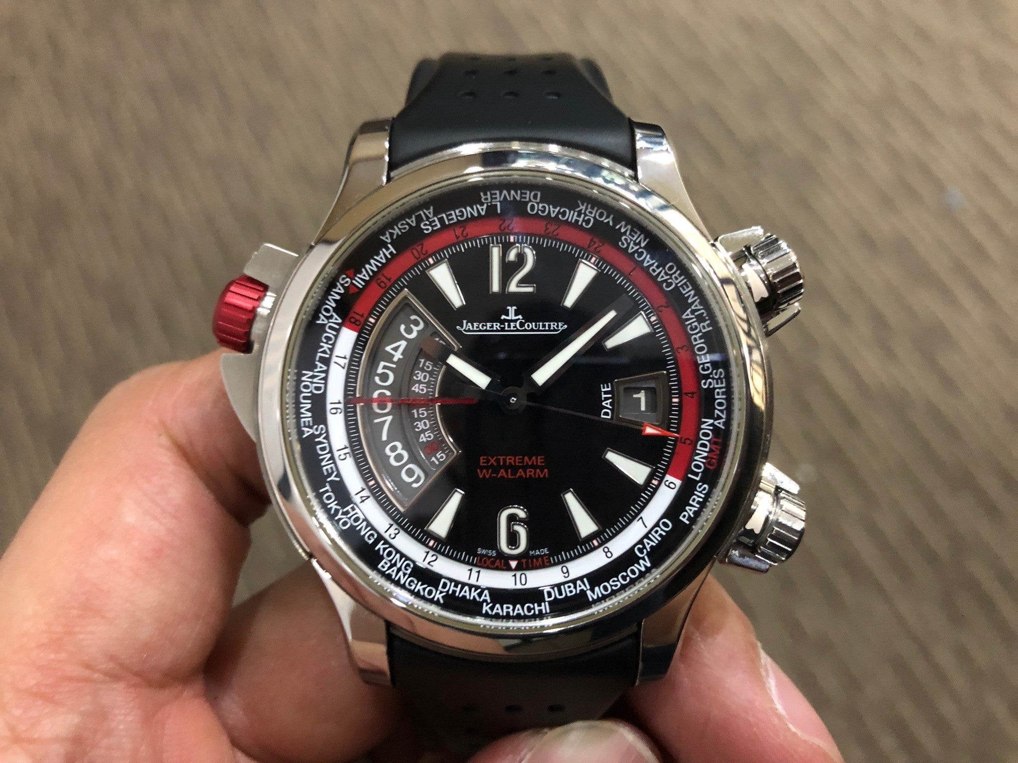 -SOLD- Jaeger LeCoultre Master Compressor Extreme World Alarm Q1778470