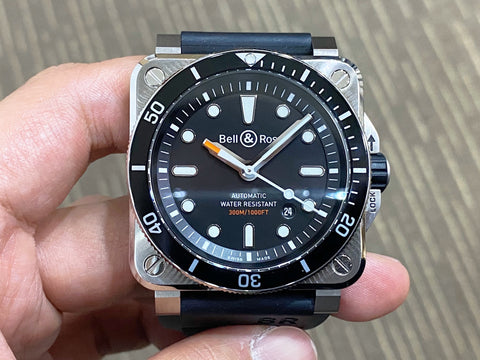 -Like New- Bell & Ross Diver Black BR03-92
