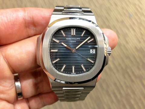 -Pre Owned- Patek Philippe Nautilus 5711 Blue 5711/1A